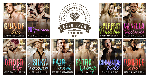 Image of all 10 book covers in the Bold Brew series.